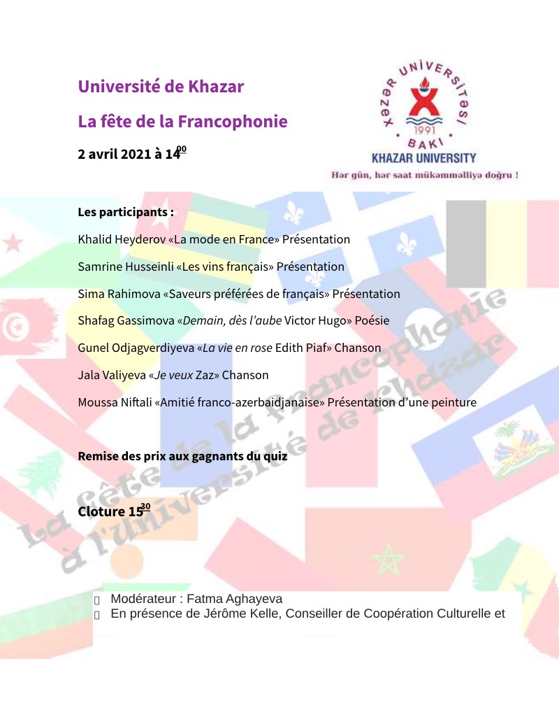 Khazar University and French Embassy to host French Language Event within Francophone Festival