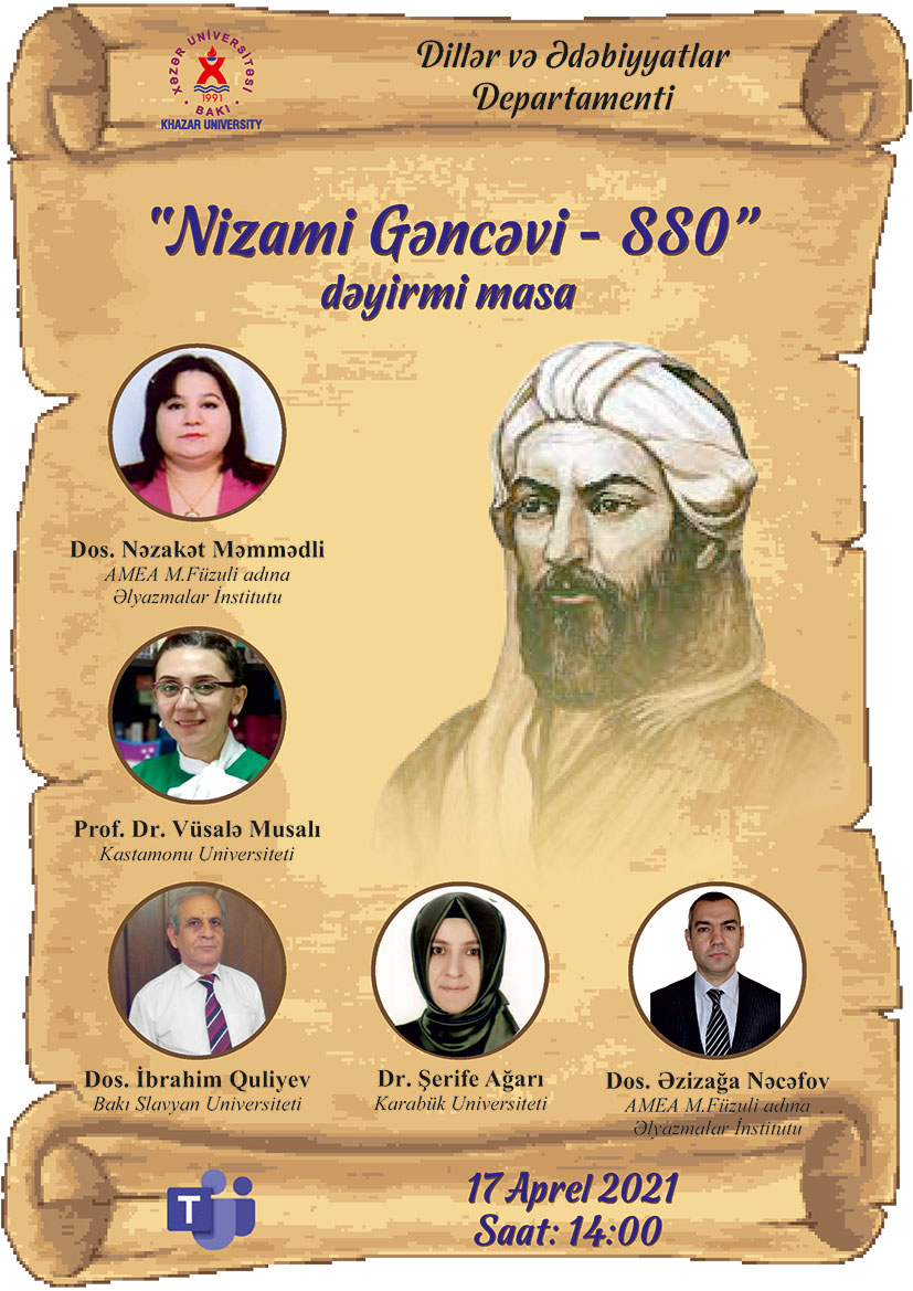 Round table to be held on the occasion of 880th anniversary of great Azerbaijani poet and thinker Nizami Ganjavi