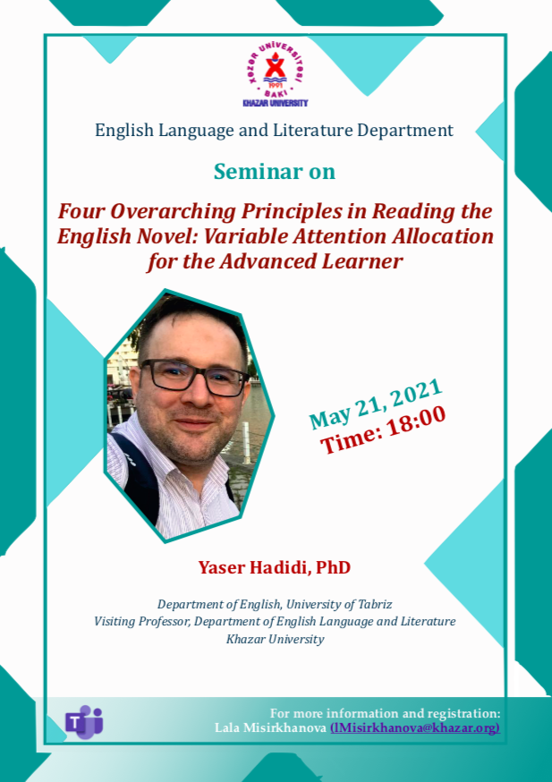English Language and Literature Department holds a virtual seminar