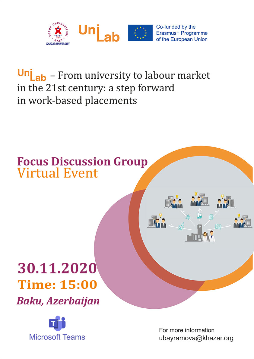 Focus Group Discussion Event to be Held within UniLab Project