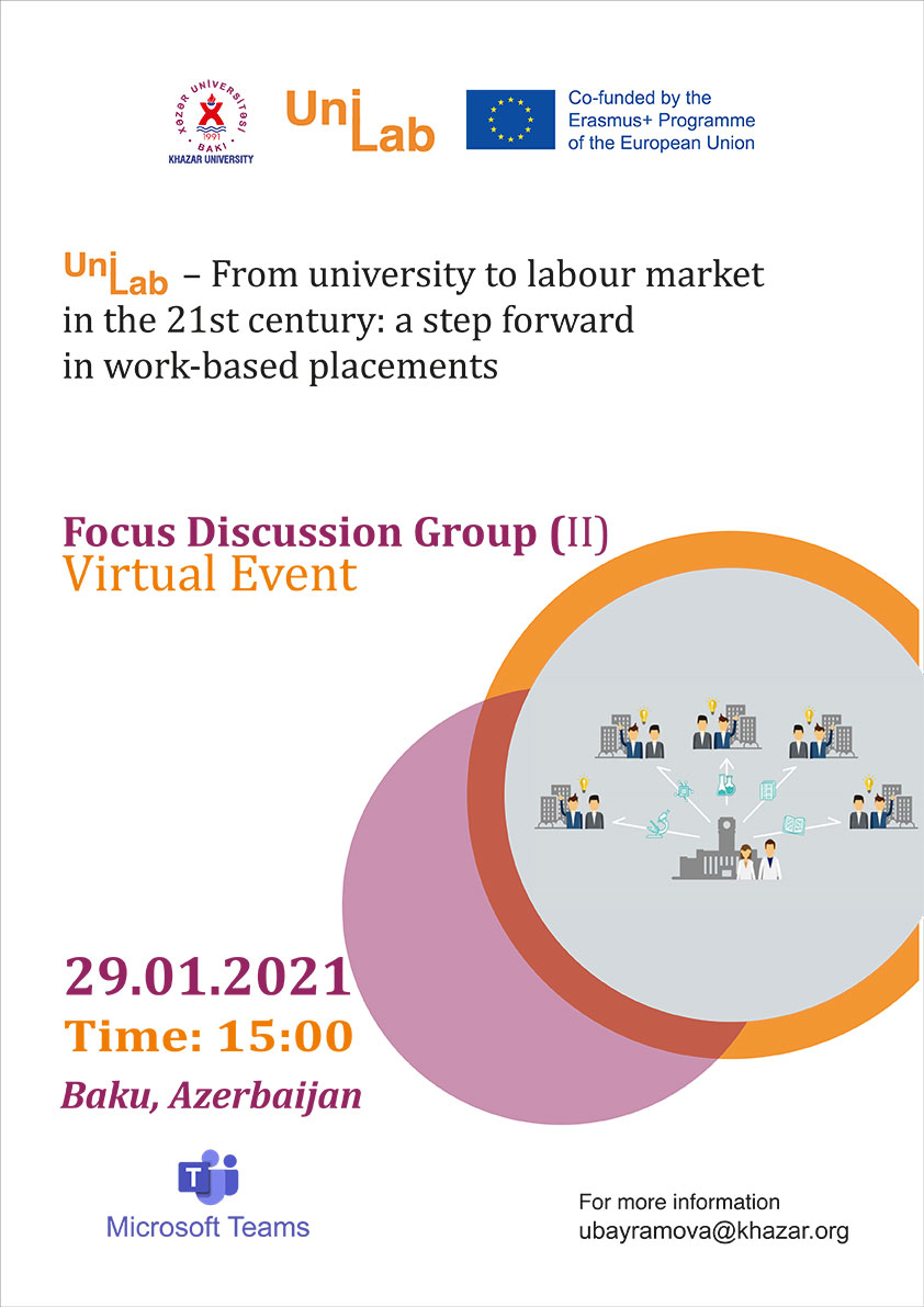 """Following event entitled """"Focus Discussion Group"""" held within the framework of the UniLab Project"""