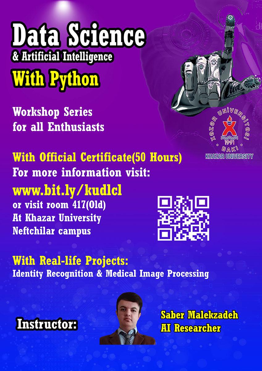 """Data Science with Python"" workshop series at Khazar University"