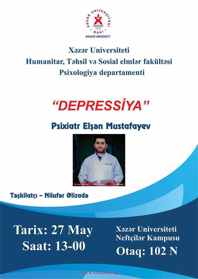 "Workshop on ""Depression"" to be Held"