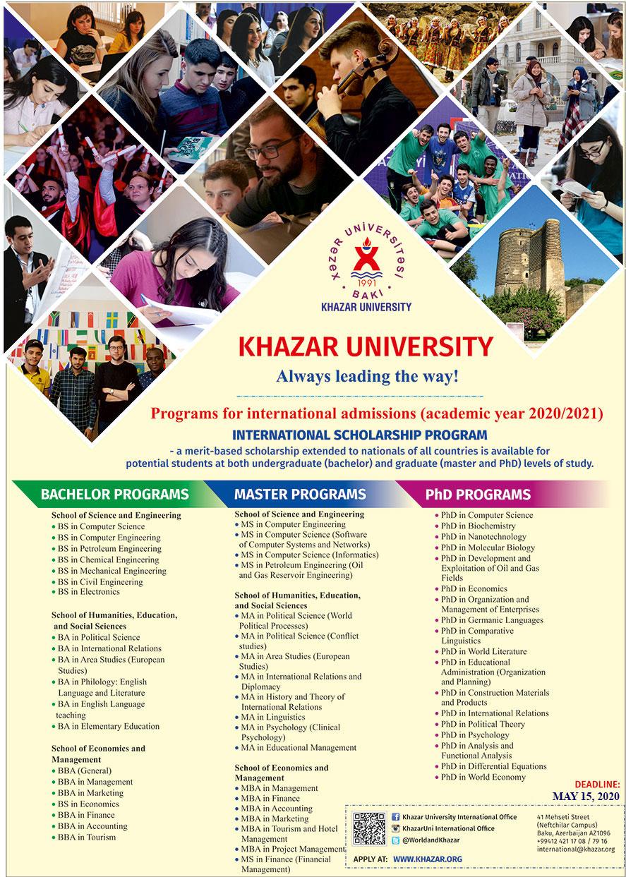 Khazar University Announces International Admission Open
