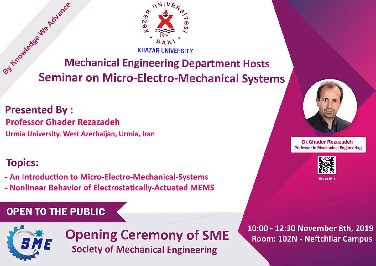 Upcoming Seminar on Micro-Electro-Mechanical Systems (MEMS)