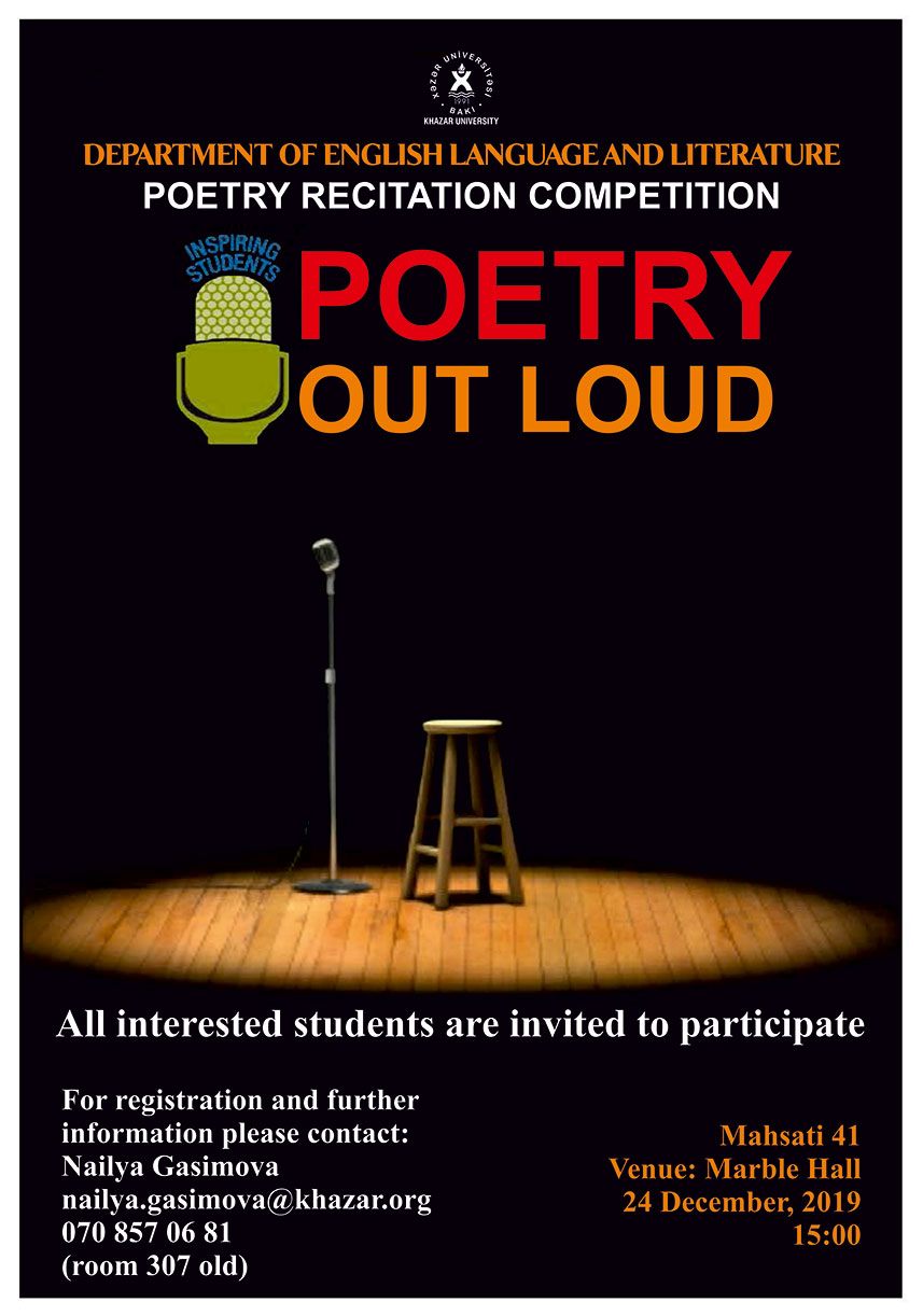 """""""Poetry Recitation Competition"""" to Be Held"""