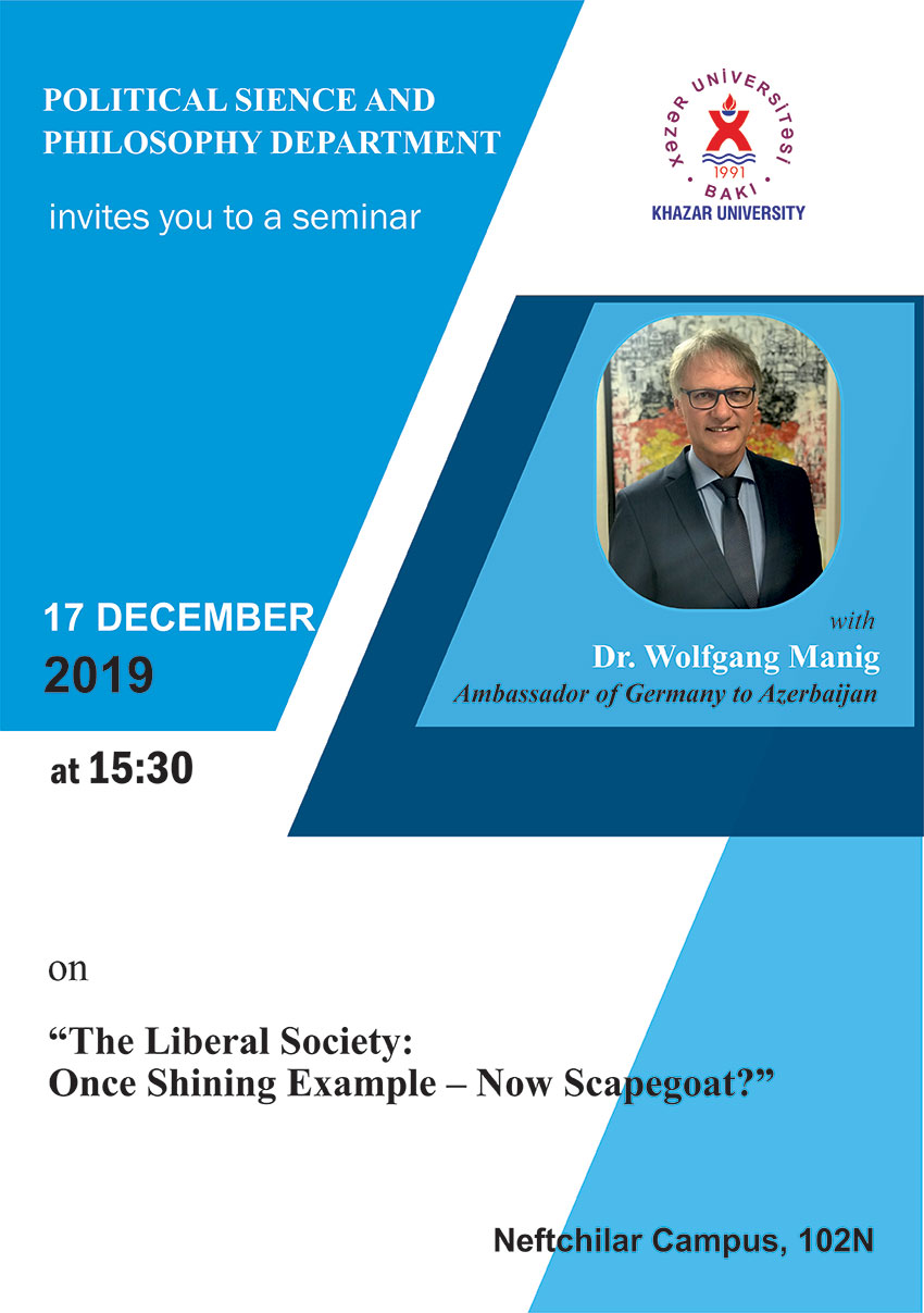 Upcoming Seminar to be Delivered by Ambassador of Germany