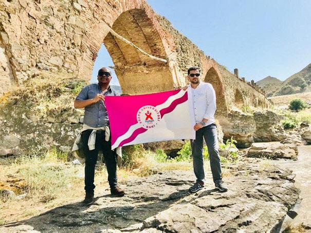 Foreign students of Khazar University in Karabakh
