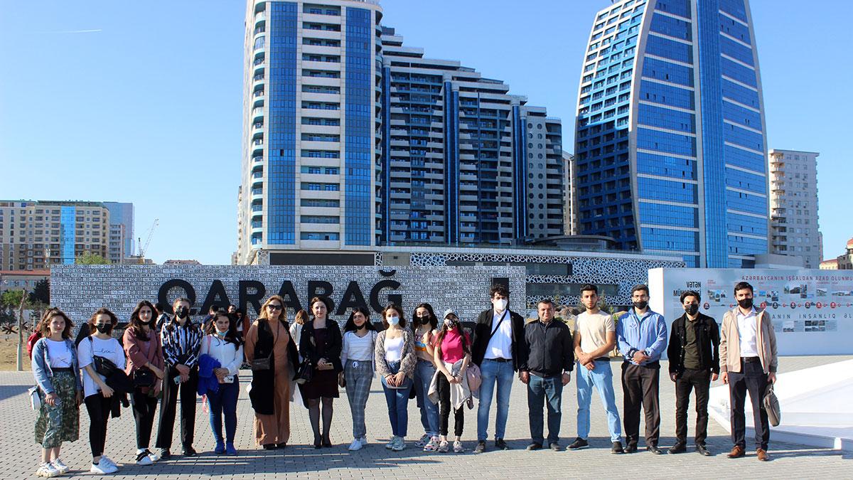 Khazar University students visited the Military Trophies Park