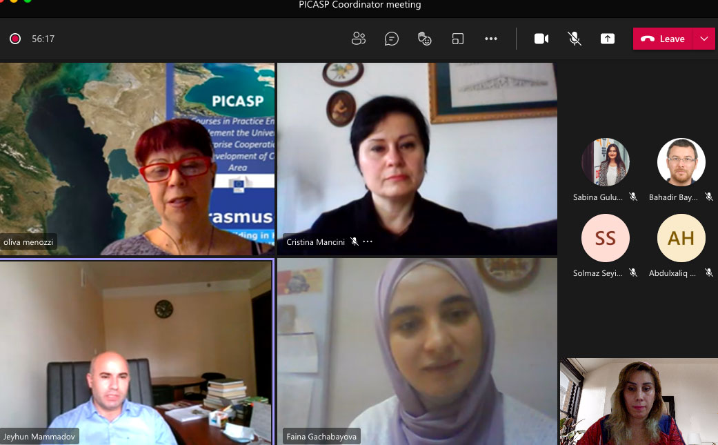 Meeting with Erasmus+ PICASP project coordinators