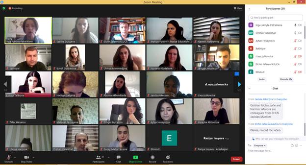 Virtual meeting within Erasmus+ ECAR project