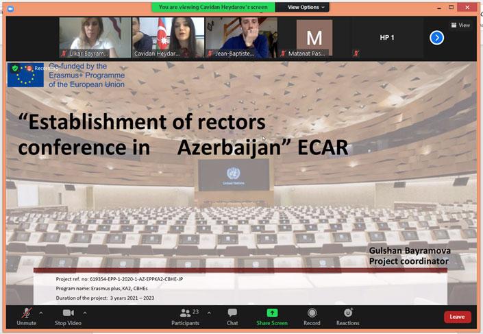 Next Virtual Meeting of Erasmus+ ECAR Project