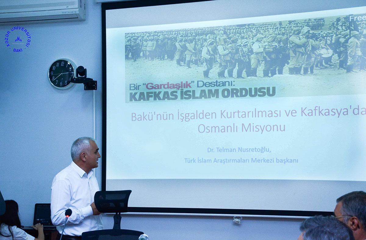 """""""Bakının işğaldan azad edilməsi və Qafqaz İslam Ordusu"""" adlı elmi konfrans"""
