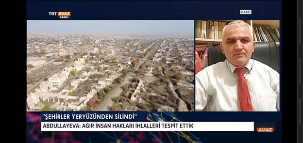 Khazar University Department Head is on Turkish TRT Avaz Channel