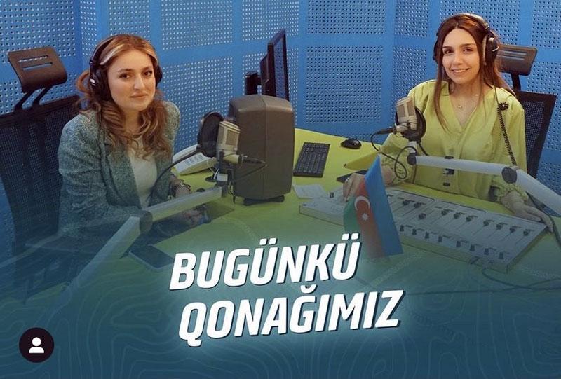 """Khazar staff member at """"Araz FM"""""""