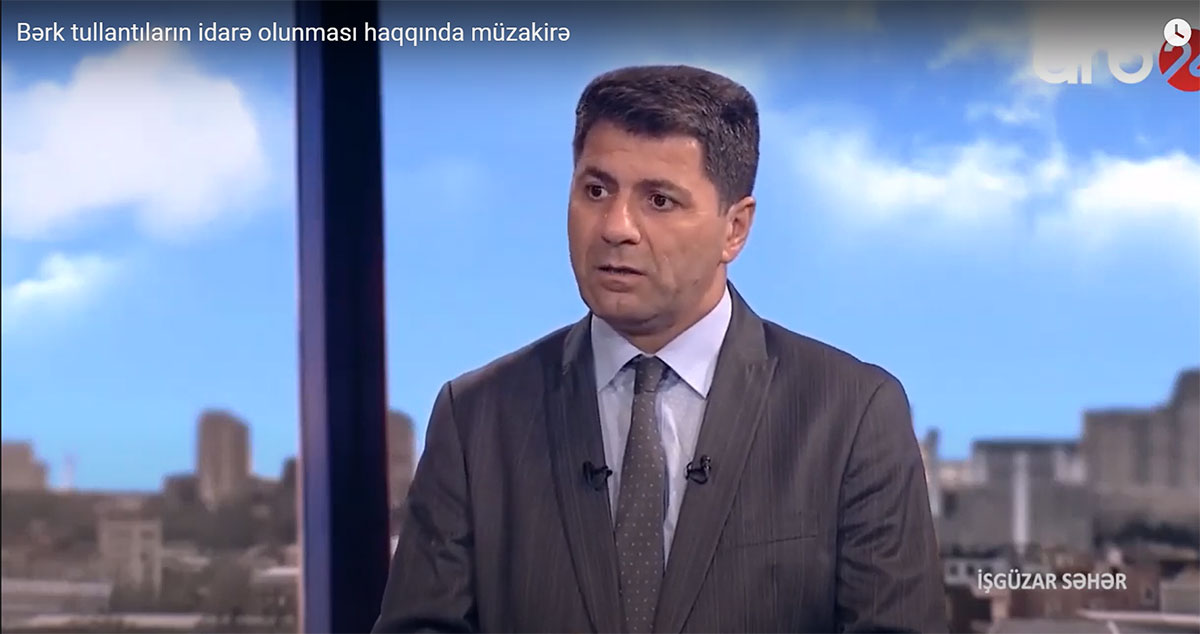 Interview of Khazar University's department head to ARB 24 TV channel